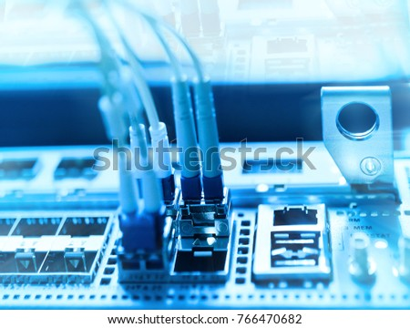 network optical fiber cables and hub