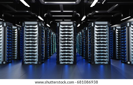 Network Server Room. Technology Concept / Background