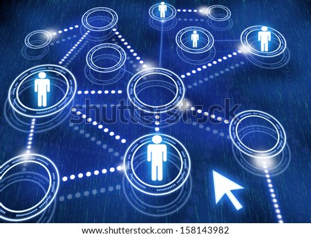 Network, social media, internet - stock photo