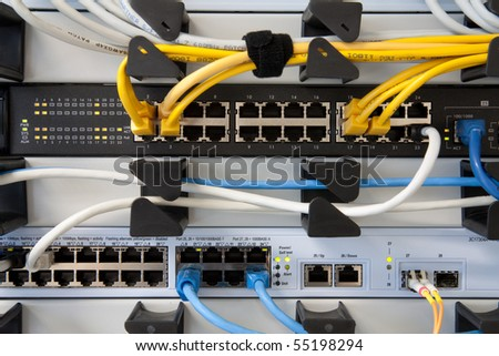 Network Switch - stock photo