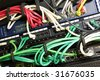 Network switch, Power over Ethernet switch for telecommunications and a patch panel - stock photo