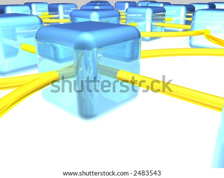 network workstation - stock photo
