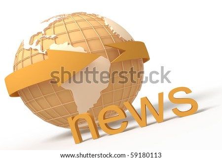 Networked globe showing Americas and Africa - stock photo