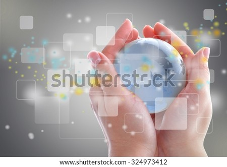 Networking. - stock photo