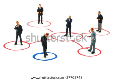 networking business people isolated on white background