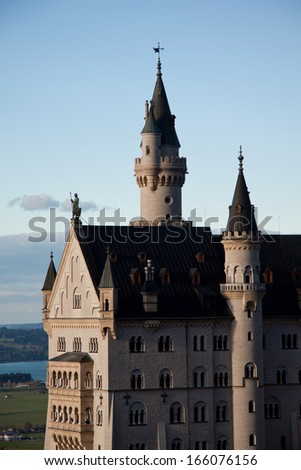 Neuschwanstein Castle, Bavaria - stock photo