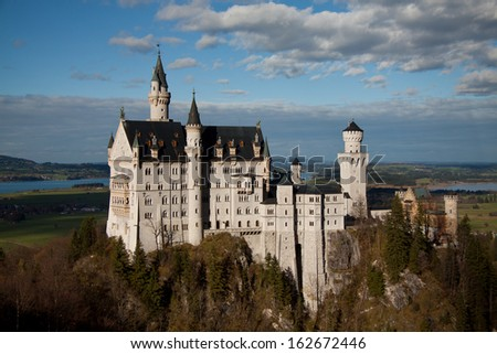 Neuschwanstein Castle, Bavaria (Germany) - stock photo