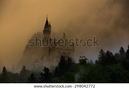Neuschwanstein Castle From Below - stock photo