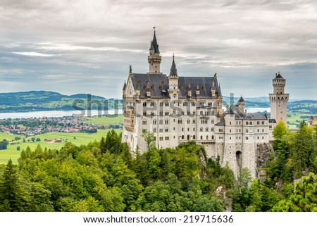 Neuschwanstein Castle -  Romanesque Revival palace in Germany
