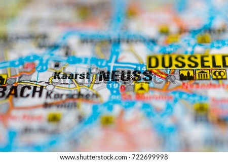 Neuss On Map Stock Photo 722699998 Shutterstock