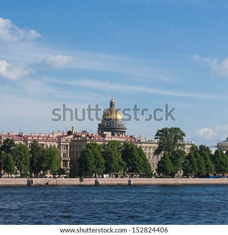 Neva River and St. Isaac's Cathedral, Saint Petersburg