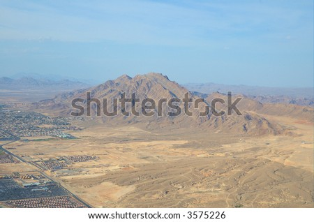 Nevada from up high 4 - stock photo