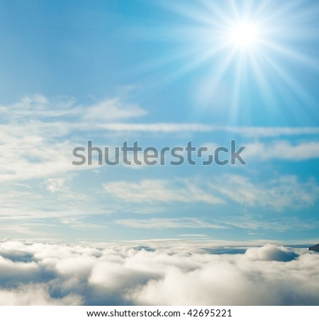 Never cloudy above clouds - stock photo