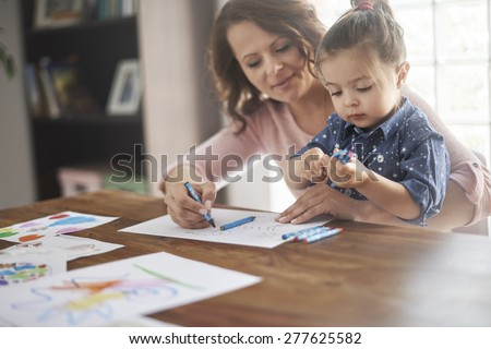 Never is too early for education the child by playing - stock photo