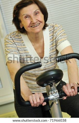 Never too old enough for being healthy - stock photo