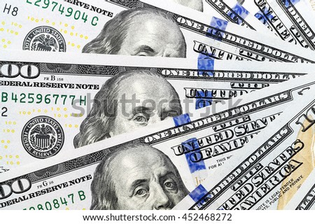 New American dollars  - stock photo