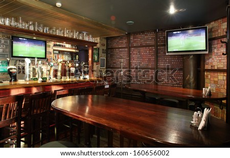 Pub interior stock photos images pictures shutterstock - Como decorar un bar ...