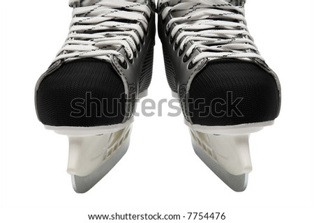New and modern skates on a white background - stock photo