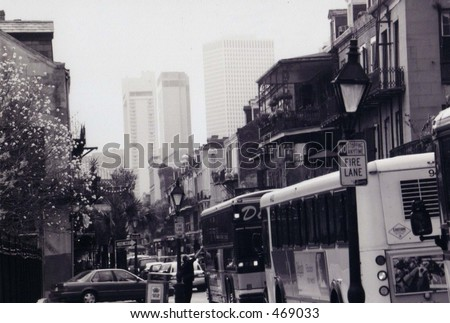 New and Old Cityscape - stock photo