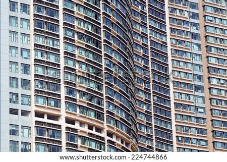 New apartments in Hong Kong at day  - stock photo