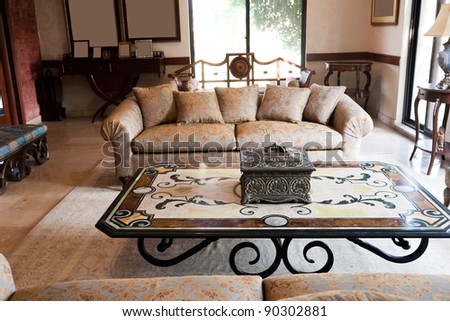 New Apartments Living Room With Classic Oriental Furniture