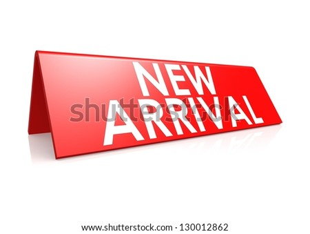 New arrival tag in red - stock photo