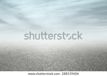 new asphalt road and sky background