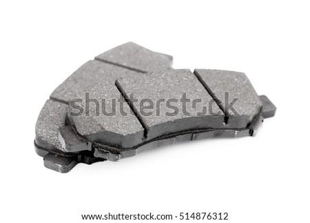 New auto brake pads isolated on white background