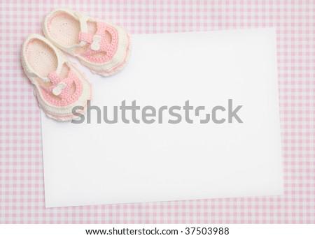 New baby announcement - stock photo