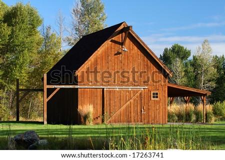 New Barn - stock photo