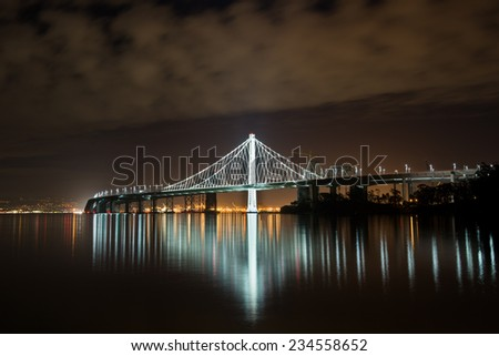 New Bay Bridge, San Francisco - stock photo