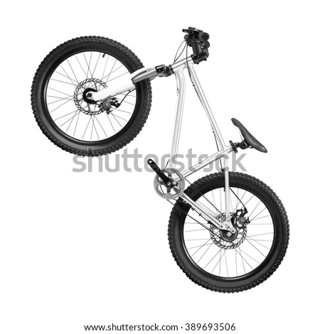 New bicycle isolated on a white - stock photo