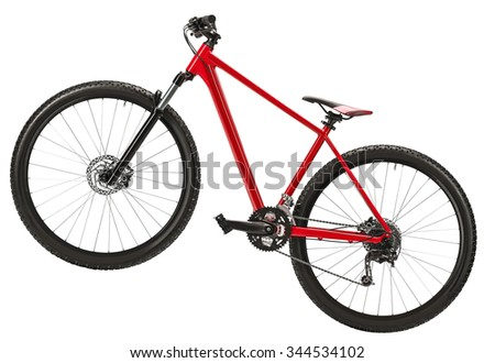 New bicycle isolated on a white background - stock photo