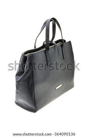 New black womens bag isolated on white background.