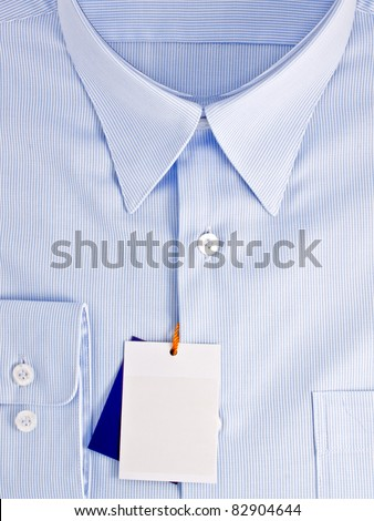 New blue shirt with blank label