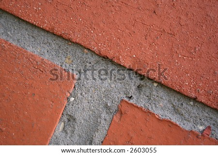 New brick wall, Detail of brickwork on a new house