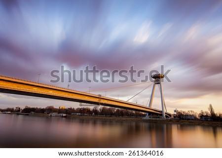 New Bridge, Bratislava - stock photo