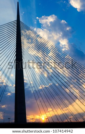 New bridge in Belgrade - stock photo