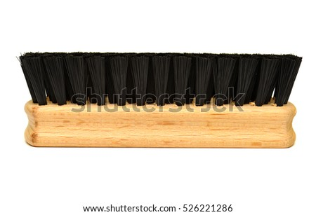 New brush for shoes isolated on white background