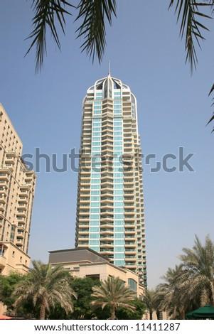 New building by Marina Dubai - stock photo