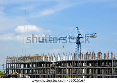 New building is under construction. - stock photo