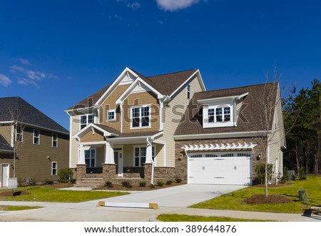 New built home - stock photo