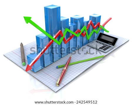 New business plan, tax, accounting, statistics and analytic research  - stock photo