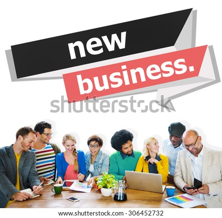 New Business Startup Strategy Ideas Creativity Concept - stock photo