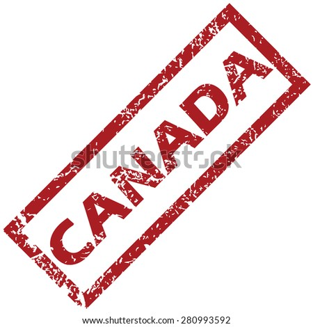 New Canada grunge rubber stamp on a white background