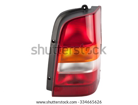 new car back light headlights on a white background  - stock photo