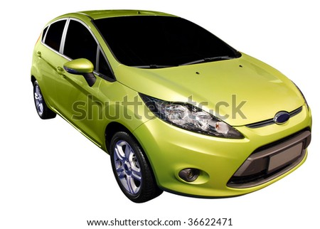 new car isolated - stock photo