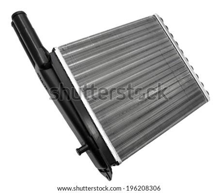 New car radiator on a white background - stock photo