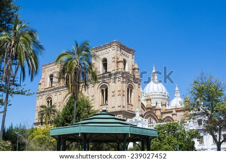 New cathedral of Cuenca, Ecuador - stock photo