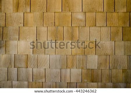 New cedar shingles texture - stock photo